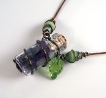 Wire wrapped pendant by SnowFox102