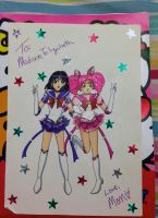 Gift: Eternal Saturn + Chibi Moon by YuniNaoki