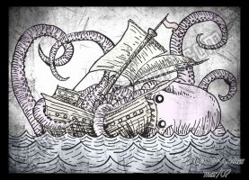 Sea monster by Urric