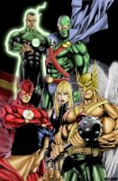 ED Benes' JLA Complete by JusticeCho
