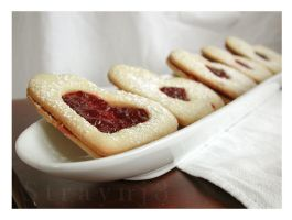 Shortbread Jam Cookie Thrice by Straynj3