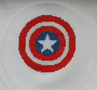 Captain America Cross-Stitch by Labely
