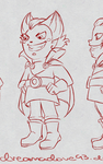 Ref Sheet:  Vlad Muse Turnaround WIP by DreamaDove93