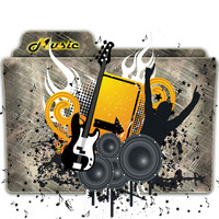 Music Folder Icon 7 by gterritory