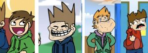 Eddsworld Rage faces by SkiddleZIzKewl