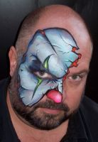 Evil Clown Face Painting by BruceCollinsArt