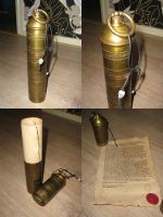 Inquisitor's License and Scroll Case by Hellwolve