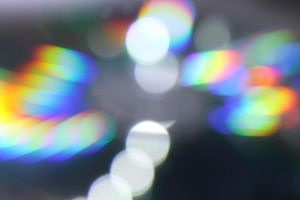 rainbow bokeh by demonisha