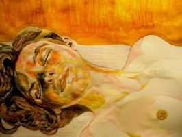 'Girl with closed eyes' (Lucien Freud) by raschiabarile