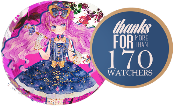 +170 WATCHERS!! by xVictory