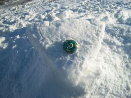 How I made the hole in the snow-puzzle XD by BladerGirl101