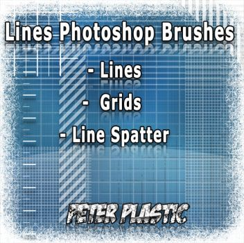 Photoshop Brushes lines by PeterPlastic
