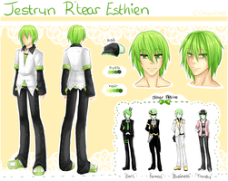 [TRP] Jestryn Reference Sheet by Chikukko