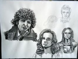 Classic Who Portraits by Waldbraut