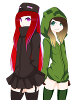 Collab redo-Mob Sisters by xx-Chanour