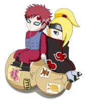 Deidara X Gaara by chocobo124