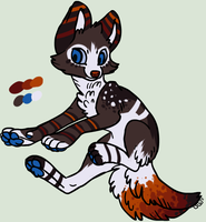 Single Canine Adopt .:CLOSED:. by XKSilver
