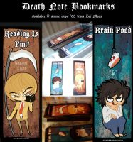 Deathnote Bookmarks by zoemoss