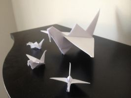 Origami flapping bird by Labi01
