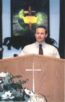 Me preaching by Rodef-Shalom