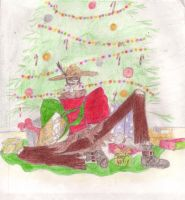 Merry Christmas Scarecrow by Chainroundmyneck