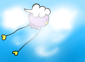 Drifloon in the Clouds by maplexsonic