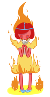Young Flame Princess by VanillyCake