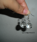 Caged clear sphere earrings by prismpower23