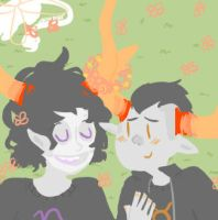 some tav and gamzee loving by VomitVolcano