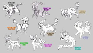 Eeveelutions by Epsthian-Artist
