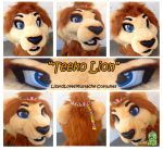 Teeko [fursuit head] by TheGreenCoyote
