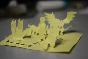 Percy Jackson Paper Cutting by Exoen144