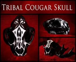 Painted Cougar Skull by NaturePunk