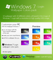Windows 7 Login Colors Pack by CaHilART