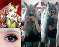 Yuzuruha [Oboro Muramasa] Make up and Wig test by Sayuri-Shinichi