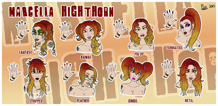 Styles Sheet Commission - Marcella Highthorn by pixiekirin