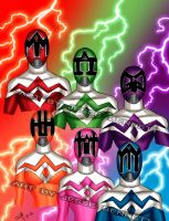 Mighty Morphin Power Rangers concept by blueliberty