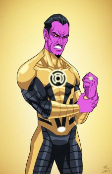 Sinestro (Earth-27) commission by phil-cho