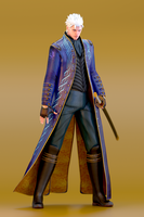 .:Vergil Blender Render :. by SniperGiirl