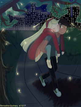 Starco: Moon Lit Night in the City Park by Otakuofeverything