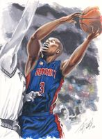 Rodney Stuckey by tdastick