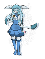 Anthro Glaceon by Shadow-Pikachu6