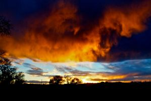 Firey Sky 2 by Blue-BirdPhotography