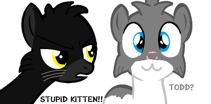 Sylvester and Gibson as Ponies by OggyxOlivialover