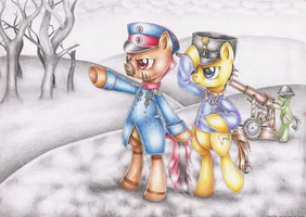 :COM: Ponys at war by Evomanaphy