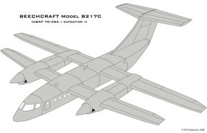 Beech YC-45A Expeditor by Bispro