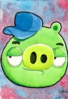Mechanic Pig - My very first ACEO! by Gallade007
