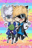 Chibi Shashanka 'n' Shina- Gift for auntie ^_^ by shinarei