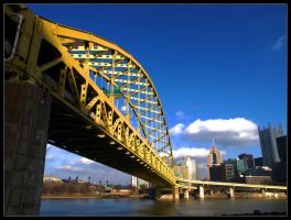 Fort Pitt Bridge I by Latrodectus-Pallidus