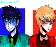 Beta kids dudes and, OMG my first speedpaint! by KillerShinigami